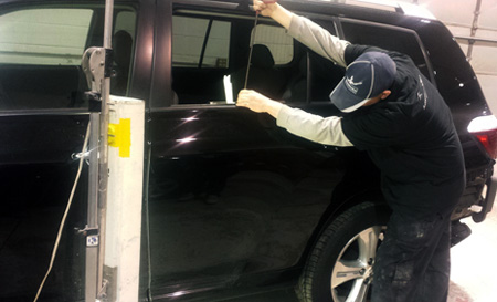 Paintless dent removal is a popular, money saving auto body repair technique for fixing door dings and hail damage commonly resulting from thunderstorms that hit the Minnesota Twin Cities of Minneapolis and St. Paul.  We process your accident insurance claims for you!